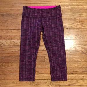 Lululemon purple/pink workout capris - sz 8